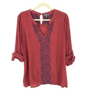 Stitch Fix Market & Spruce embroidered tunic top